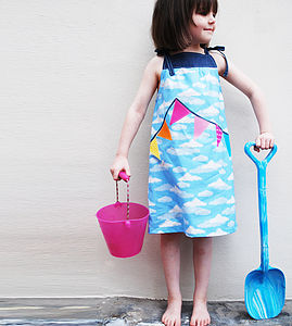 Girl's Summer Sun Bunting Dress - clothing