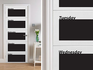 Chalkboard Week Planner Wall Stickers