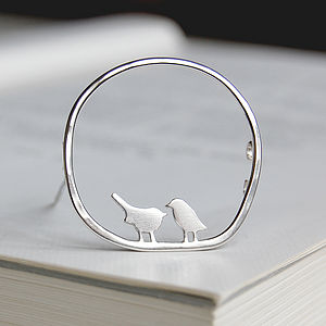 Bird Silhouette Brooch - pins & brooches