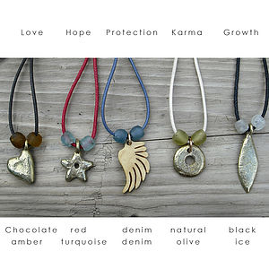 Good Wishes Thong - necklaces & pendants