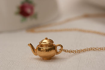 Gold Teapot Necklace