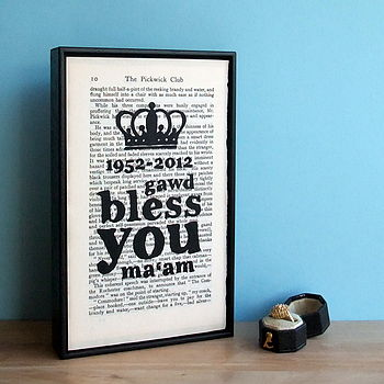Diamond Jubilee Crown Art Print