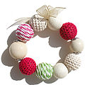 Lime And Raspberry Bracelet