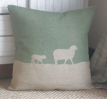 ' Country Sheep ' Floor Cushion