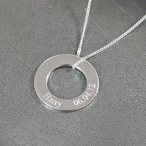 Personalised Silver Circle Of Life Necklace - shop by price
