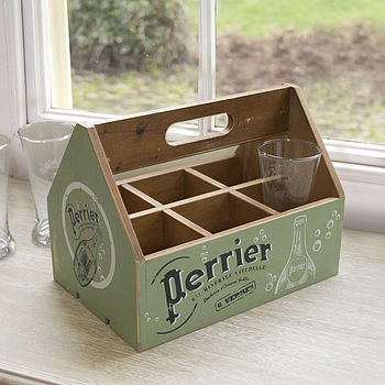 Wooden Perrier Glass Holder