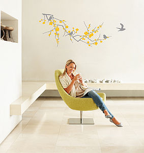 Branch With Flowers Wall Sticker - wall stickers