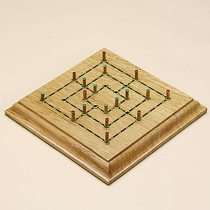 Wooden Nine Men's Morris Board Game - toys & games for adults