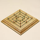 Wooden Nine Men's Morris Board Game