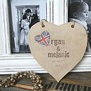 Personalised Wedding Heart With Union Jack