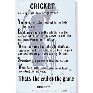 Cricket Linen Tea Towel - kitchen accessories