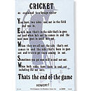 Cricket Linen Tea Towel