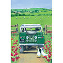 Landrover Linen Tea Towel