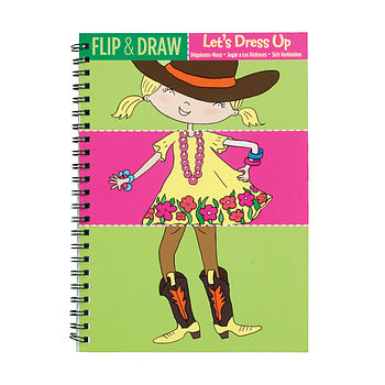 Flip And Draw Dressing Up Colouring Notebook