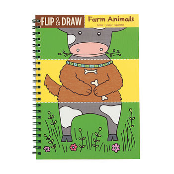 Flip And Draw Farm Animals Colouring Notebook
