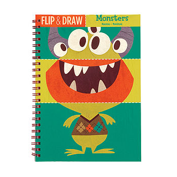 Flip And Draw Monster Colouring Notebook