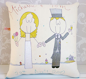 Personalised Wedding Gift Cushion - bedroom