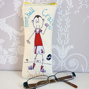 Personalised Football Crazy Glasses Case