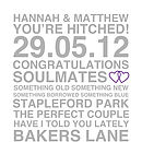 Personalised Sentiments Typography Print