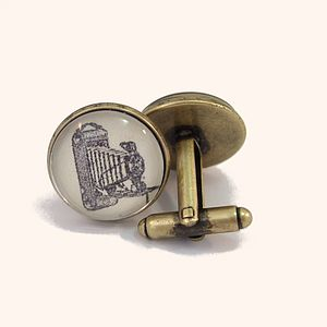 Vintage Camera Antique Bronze Round Cufflinks - men's jewellery