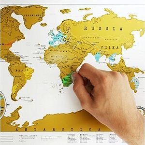 Travel Scratch Map - stocking fillers under £15