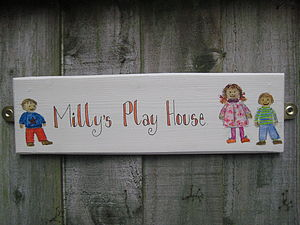 Bespoke Play House Sign - art & decorations