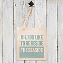 'Beside The Seaside' Cotton Tote Bag