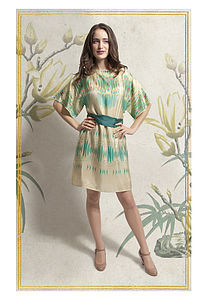 Paloma Print Sass Silk Dress