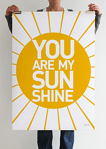 'You Are My Sunshine' Print - art & pictures
