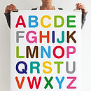 Multicoloured ABC Print
