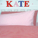 Red Gingham Set with extra pillowcase (Pink)