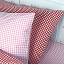 Gingham Pillowcases (Pink and Red)