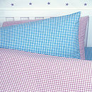 Lilac Gingham Set with extra pillowcase (Blue)