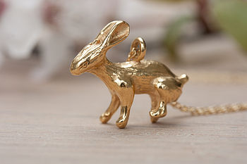 Gold Rabbit Necklace