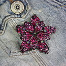 Diamante Flower Brooch
