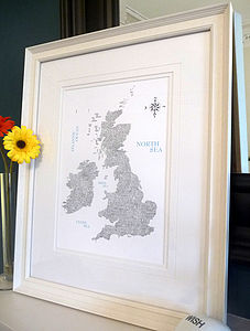 British And Irish Map Print