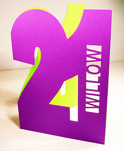 Big Number Personalised Cut Out Card - birthday cards
