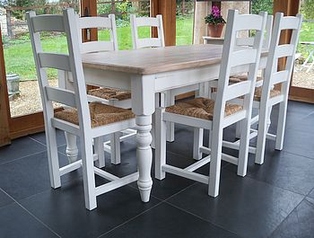 Painted Farmhouse Table And Shaker Chairs