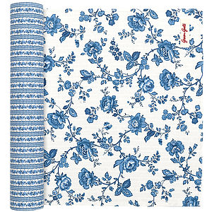 Frida Indigo Cotton Table Runner - table linen