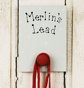 Personalised Dog Lead Hanger - stylish pet accessories for the home
