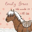 Personalised Birth Date Horsey Print