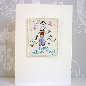 Personalised Fathers Day Golf Card - father's day cards