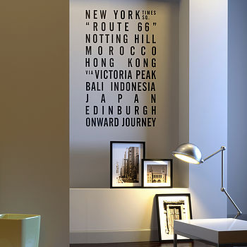 Personalised Bus Blind Wall Sticker