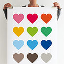 Multi Coloured Heart Print