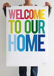 'Welcome To Our Home' Print - new home gifts