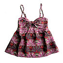 Hot Pink Silk Liberty Tribal Print Camisole