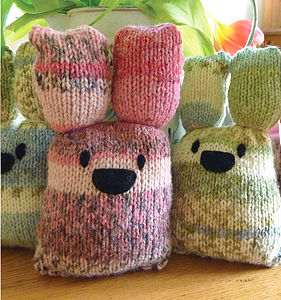 Knit & Personalise Baby Bunnies & Hearts Kit - creative kits & experiences