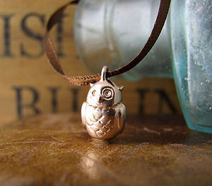 Owl Ribbon Pendant - necklaces & pendants