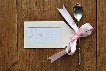 Birth Announcement Tags, Ribbon & Envelopes
