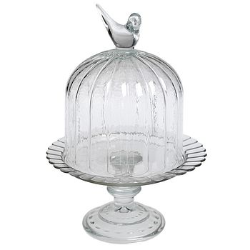 Mini Birdcage Cloche Glass Cake Stand